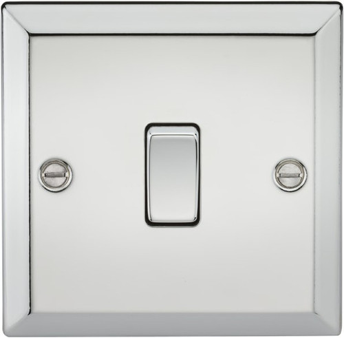 10A 1G Intermediate Switch - Bevelled Edge Polished Chrome (DFL1CV12PC)