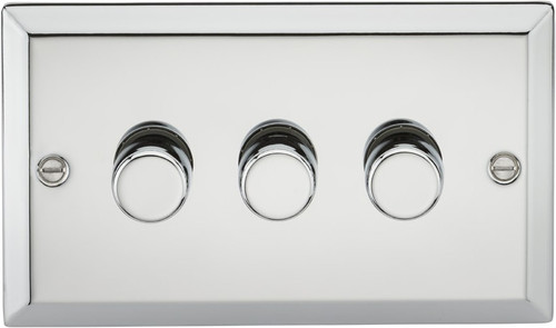 3G 2-Way 40-400W Dimmer Switch - Bevelled Edge Polished Chrome (DFL1CV2173PC)