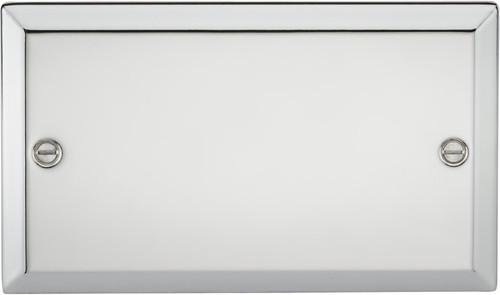 2G Blanking Plate - Bevelled Edge Polished Chrome (DFL1CV88PC)