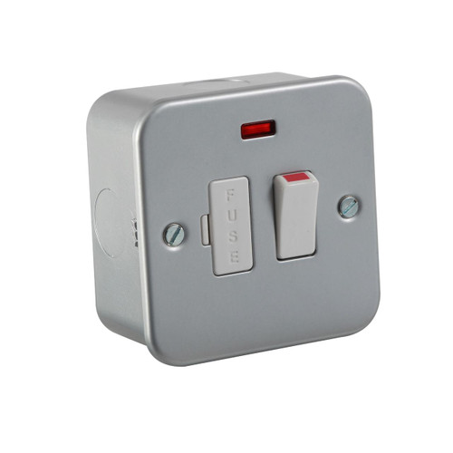 Metal Clad 13A Switched Fused Spur Unit with Neon (DFL1M6300N)