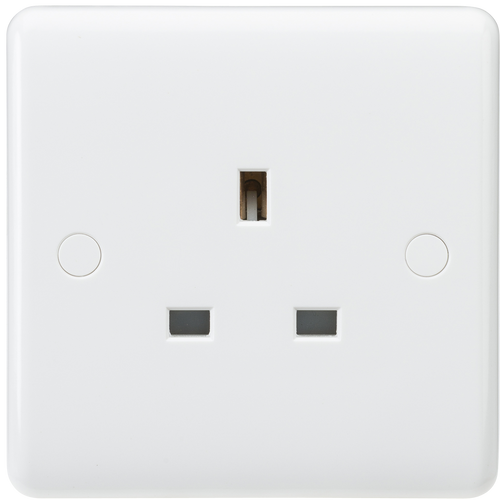 Curved edge 13A 1G unswitched socket (DFL1CU7000U)