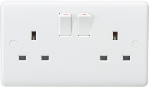 Curved edge 13A 2G DP switched socket (DFL1CU9000)