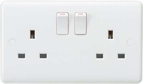 Curved edge 13A 2G SP switched socket (DFL1CU9000S)