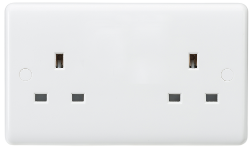 Curved edge 13A 2G unswitched socket (DFL1CU9000U)