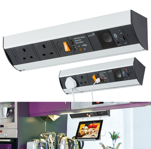 Under Cabinet 2G Power Station with USB Charging and Bluetooth Audio System (DFL1SK007)