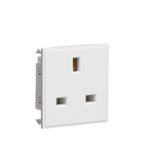 13A 1G White Unswitched Modular Socket (DFL1NET13WH)