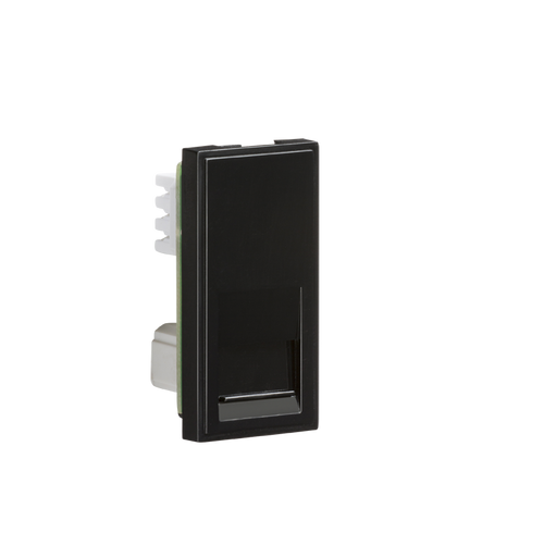 Black Modular Telephone Slave Outlet IDC (DFL1NETBTSBK)
