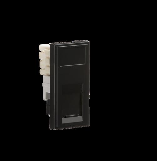 Black Modular RJ11 Outlet (DFL1NETRJ11BK)