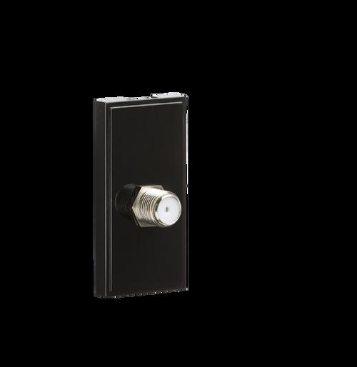 Black Modular SAT TV outlet (PCB) (DFL1NETSATBK)