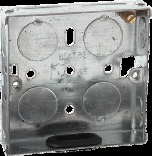 1G 16mm Galvanised Steel Box (DFL1SG116)