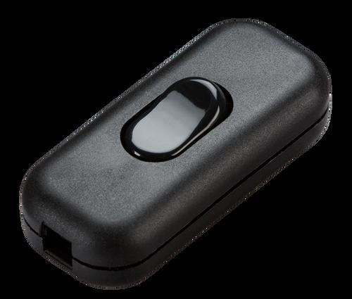 6A DP inline cord switch - black (DFL1ST6ABK)