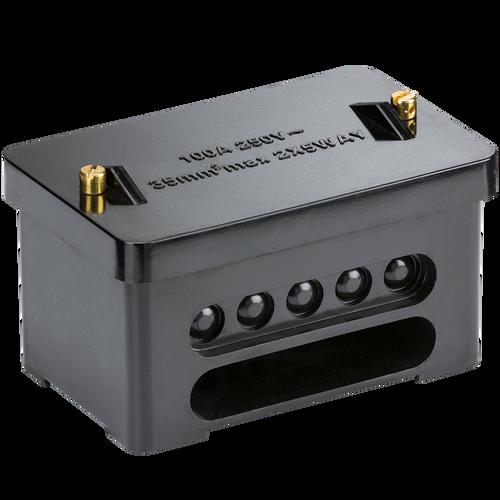 100A 2 X 5WAY CONNECTOR BLOCK DP (35MM) (DFL1SNEB2)