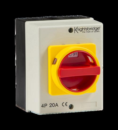 IP65 20A Rotary Isolator 4P AC (230V-415V) (DFL1IN0025)