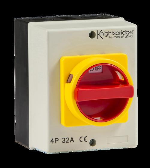 IP65 32A Rotary Isolator 4P AC (230V-415V) (DFL1IN0026)