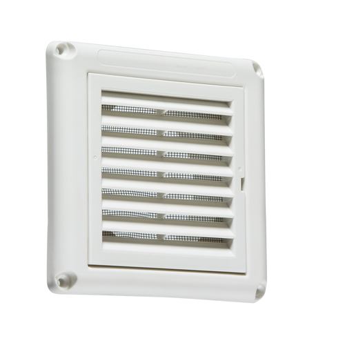 "100MM/4"" Extractor Fan Grille with Fly Screen - White (DFL1EX009W)"
