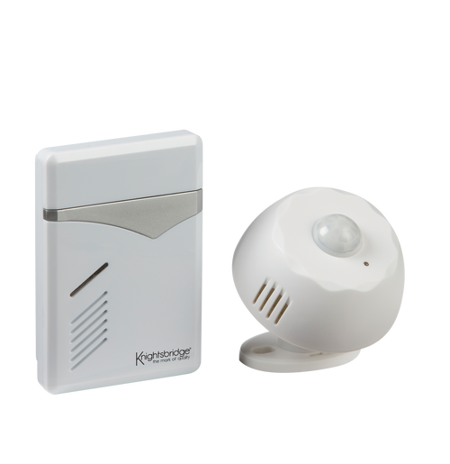 White Wireless PIR Door Chime (100m range) (DFL1DC006)