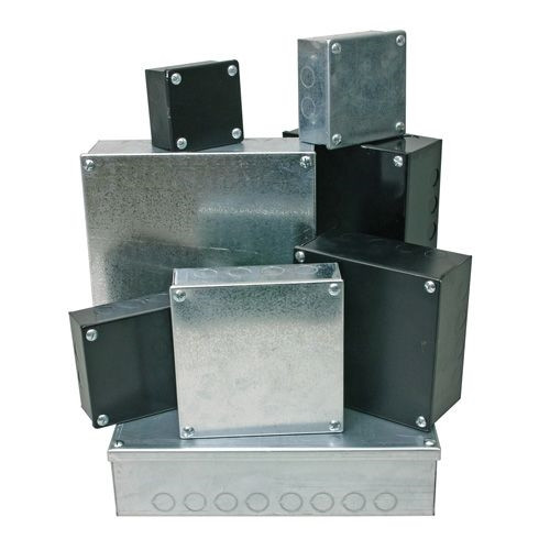Adaptable Box 4x 4x 4 with Knockouts- Black (DFL2AB444B)