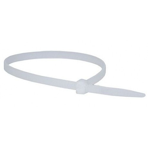 Cable Ties 2.5x 100mm, Natural (Pack of 100) (DFL2CT10025N)