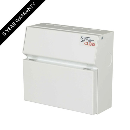 8 Way Lumo Metal Consumer Unit with Busbar without Incomer (DFL3MCU08W)