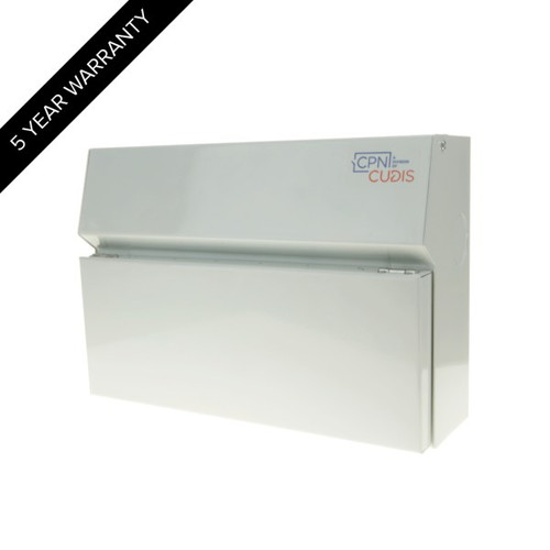 14 Way Lumo Metal Consumer Unit with Busbar without Incomer (DFL3MCU14W)