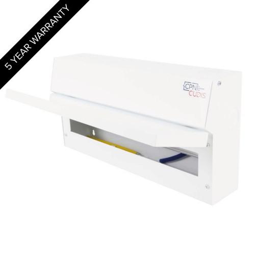 16 Way Lumo Metal Split Load Consumer Unit 100A Main Switch + 2 x 80A 30mA RCD (DFL3MCU22S80TIW)