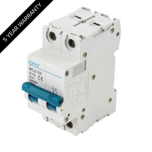 10A 2P 6kA Type D MC MCB (DFL3MC210D)