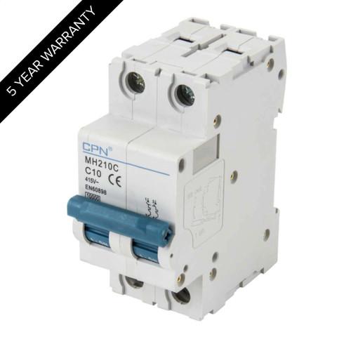 10A 2P 10kA Type C MH MCB (DFL3MH210C)