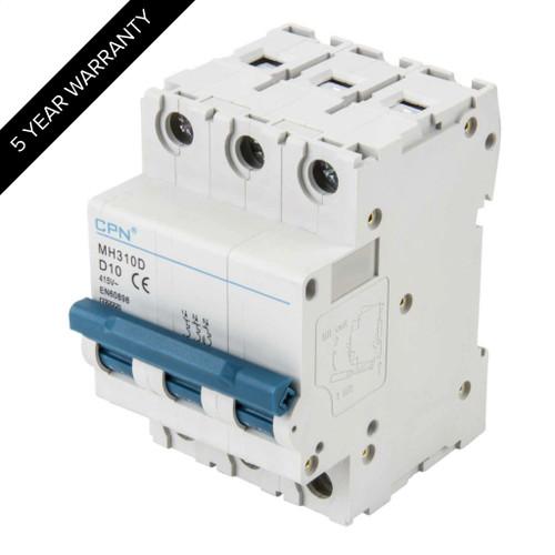 10A 3P 10kA Type D MH MCB (DFL3MH310D)