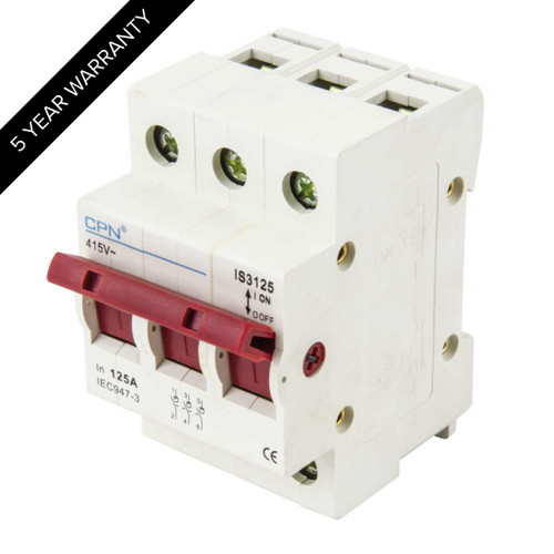 125A 3P Isolator Incomer (DFL3IS3125)