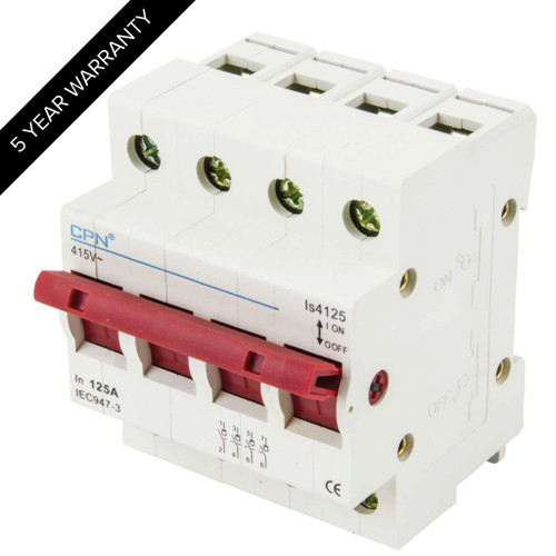 125A 4P Isolator Incomer (DFL3IS4125)