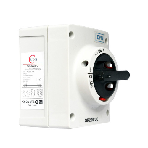 20A 2P DC Isolator Enclosed (DFL3GR220DC)
