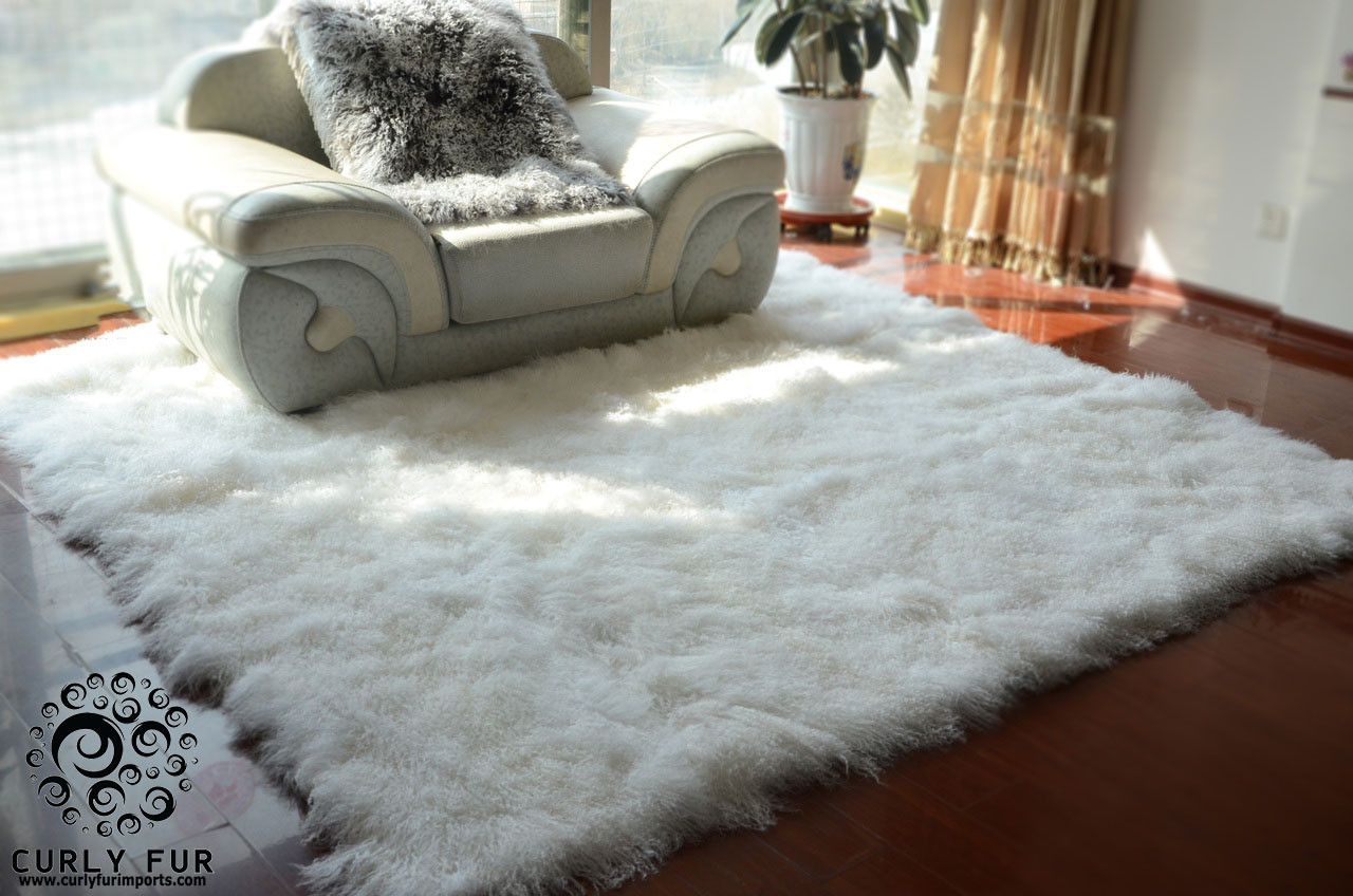 beautiful and luxurious modern decorative tibetan mongolian lamb fur rug 150 available colors. Black Bedroom Furniture Sets. Home Design Ideas