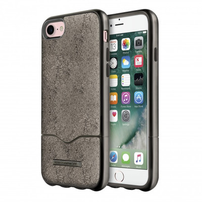 Rebecca Minkoff The Slide Case for iPhone 7 - Cracked Leather Anthracite