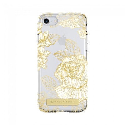Trina Turk Translucent Case for iPhone 7 - Astors  Garden White / Gold