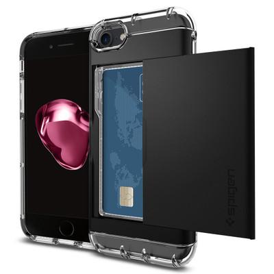 Spigen Crystal Wallet Case for iPhone 7 - Black