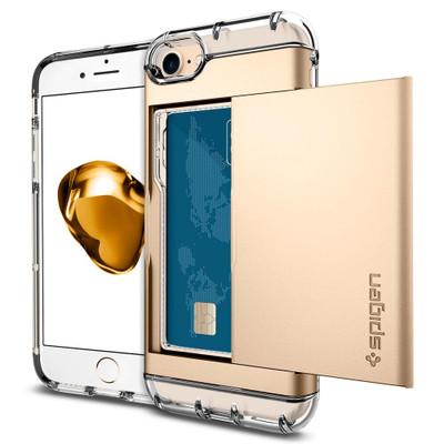 Spigen Crystal Wallet Case for iPhone 7 - Gold