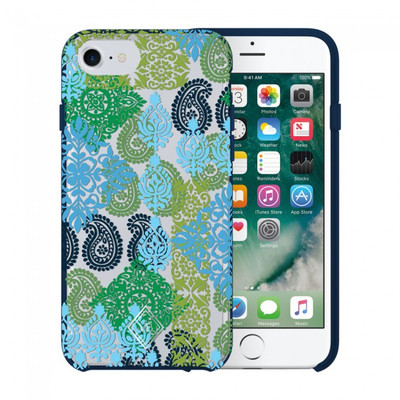 Vera Bradley Flexible Frame Case for iPhone 7, 6S / 6 - Caribbean Sea Multi Blue