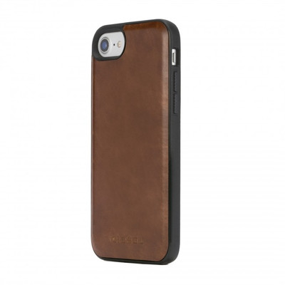 Diesel Leather Co-Mold Case for iPhone 8, iPhone 7 & iPhone 6/6s -Brown Leather