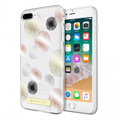 Trina Turk Translucent Case (1-PC) for iPhone 8 Plus, iPhone 7 Plus & iPhone 6 Plus/6s Plus- Fireworks Gold Foil/Rose Gold Foil /Silver Foil/Black/Clear