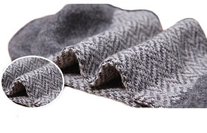 Lian LifeStyle Men's 5 Pairs Pack Rabit Hair&Wool Crew Socks Size 7-11 Stripped Men's Clothing