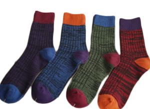 Lian LifeStyle Men's 3 Pairs Pack Cotton Crew Socks Casual Size 8-11 Men's Clothing
