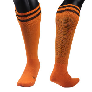 Lovely Annie Unisex 2 Pairs Knee High Sports Socks Striped Size XS/S/M