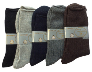 Lovely Annie Women's 5 Pairs Pack Rabit Hair&Wool Crew Socks Size 8-11 Solid