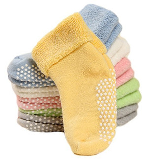 Lovely Annie Baby Children 6 Pairs Non-Skid Non Slip Combed Cotton Socks 1Y-3Y