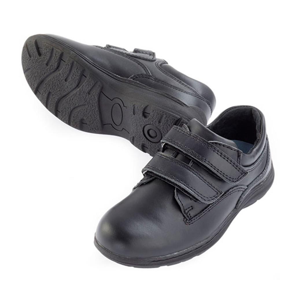 4SB Leather Velcro Shoe - Black
