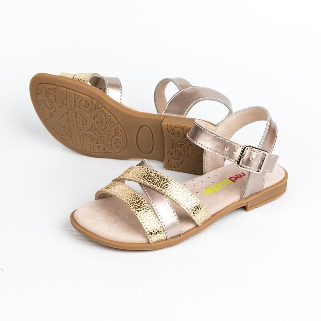 Suki Girls Patent Leather Sandal - Gold
