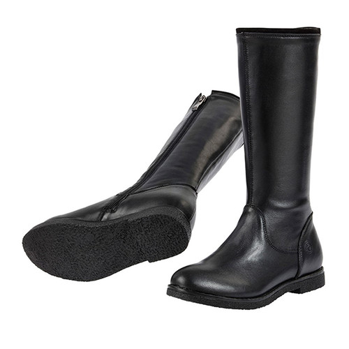 Grace Leather Long Boot - Black