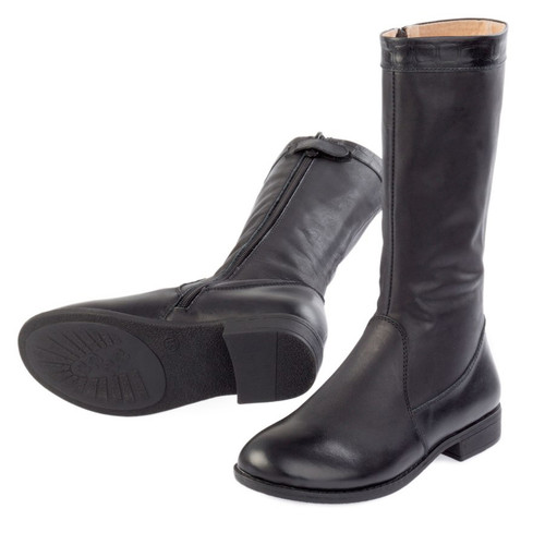 Cim Girls Leather Long Boot - Black