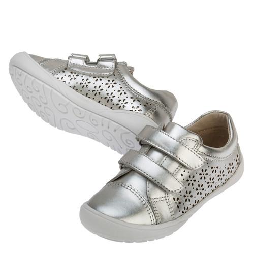 Rhonda Leather Casual Shoe - SIlver