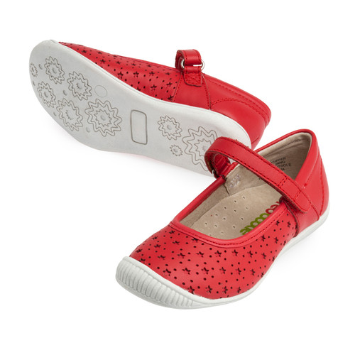 Penny Girls Leather Maryjane - Coral